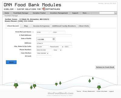 DNN Food Bank Client Manager Module